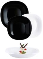 Набор тарелок Luminarc Carine Black/White N1489 -