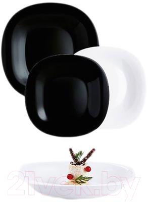 Набор тарелок Luminarc Carine Black/White N1489