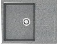 Мойка кухонная Berge BG-6502 (графит глянцевый) -