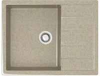 Мойка кухонная Berge BG-6502 (песочный глянцевый) -
