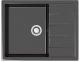 Мойка кухонная Berge BG-6502 (черный глянцевый) -