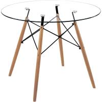 Обеденный стол Седия Leila 80x75 (стекло/бук) -