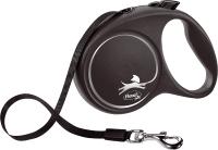 Поводок-рулетка Flexi Black Design ремень / 12351 (S, черный) -