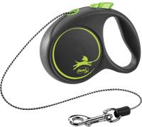 Поводок-рулетка Flexi Black Design трос / 12264 (M, зеленый) -