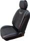 Накидка на автомобильное сиденье Novatonic НА-001 из алькантары (черный/серый) -