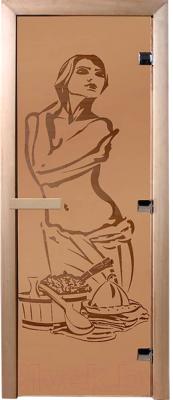 Стеклянная дверь для бани/сауны Банные Штучки Искушение 34019