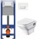 Унитаз подвесной с инсталляцией Santek Лайн 1WH501574 + P-IN-MZ-AQ40-QF + P-BU-ACT/Wh -