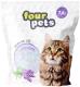 Наполнитель для туалета Four Pets Силикагелевый с ароматом лаванды / TUZ794 (7.6л) -