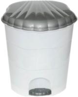 Мусорное ведро Violet 150701 (7л, белый/серый) -
