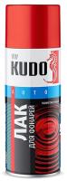 Лак автомобильный Kudo Для тонировки фар (520мл, красный) -