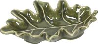 Блюдце Tognana Relief Zenia Осенний лист / RE0PI133859 (зеленый) -