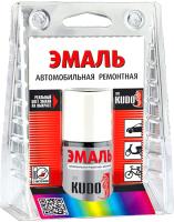 Эмаль автомобильная Kudo Ремонтная 201 (15мл, белый с кисточкой) -