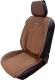 Накидка на автомобильное сиденье Novatonic НА-001 из алькантары (шоколад) -