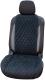 Накидка на автомобильное сиденье Novatonic НА-002 из алькантары (черный) -