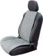 Накидка на автомобильное сиденье Novatonic НА-002 из алькантары (серый) -