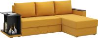 Диван угловой Sofos Турин ЛВ/ПР тип A (Savana Plus Yellow/венге) -
