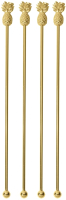 Набор палочек для коктейля Sambonet Paderno Bar Ананас 18/10 / 41491G02 (золото) -