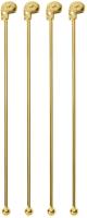 Набор палочек для коктейля Sambonet Paderno Bar Череп 18/10 / 41491G01 (золото) -