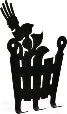 Вешалка для бани Банные Штучки Веник и ушат / 32493