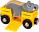 Вагон игрушечный Brio Вагончик со слоном / 33969 -