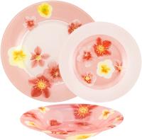 Набор тарелок Luminarc Poeme Rose N6599 (18шт) -