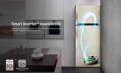Холодильник с морозильником LG DoorCooling+ GA-B509PBAM