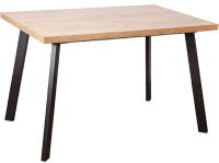 Обеденный стол Listvig Hagen 160 (дуб канзас/черный) -