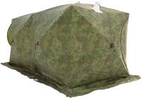 Палатка Стэк Куб 3-местная Дубль Т (дышащая, камуфляж) -