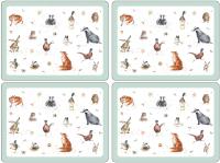 Подставка под горячее Portmeirion Wrendale Placemats / X0010648739 (4шт, птицы) -