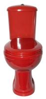 Унитаз напольный Оскольская керамика Дора Стандарт (горизонтальный выпуск, красный) -