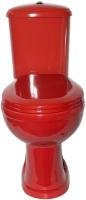 Унитаз напольный Оскольская керамика Дора Стандарт + 236.692.21.2 (горизонтальный выпуск, красный) -