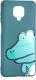 Чехол-накладка Bingo Print для Redmi Note 9S/9 Pro (крокодил) -