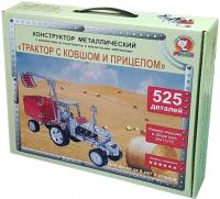 Конструктор Макси Трактор с ковшом и прицепом / 10398 (525эл) -