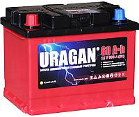 Автомобильный аккумулятор Uragan 60 L+ / 060 14 24 01 0201 07 11 9 R (60 А/ч) -