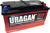 Автомобильный аккумулятор Uragan 90 R+ / 090 10 10 01 0201 07 11 9 L (90 А/ч) -