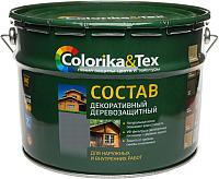 Защитно-декоративный состав Colorika & Tex 10л (махагон) -