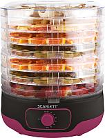 Сушка для овощей и фруктов Scarlett SC-FD421012 (черный/ягодный) -