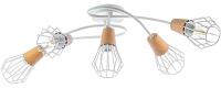 Люстра Aitin-Pro НПБ A726/5 (белый/коричневый) -