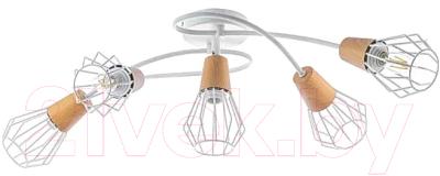 Люстра Aitin-Pro НПБ A726/5 (белый/коричневый)