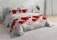 Комплект постельного белья СонМаркет Свадьба 3Д Евро -