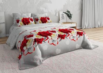 Комплект постельного белья СонМаркет Свадьба 3Д Евро