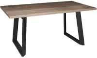 Обеденный стол Listvig Nestor 160 раздвижной (дуб галифакс табак/черный) -