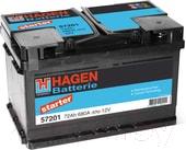 Автомобильный аккумулятор Hagen R+ / 57201