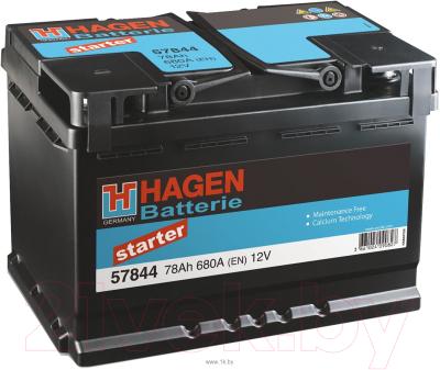 Автомобильный аккумулятор Hagen R+ / 57844