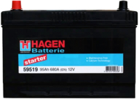Автомобильный аккумулятор Hagen L+ / 59502 (95 А/ч) -