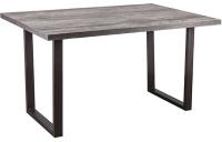 Обеденный стол Listvig Saber 140 раздвижной (сосна пасадена/черный) -
