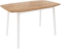 Обеденный стол Listvig Лион 120 раздвижной (дуб/белый) -