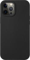 Чехол-накладка Deppa Liquid Silicone Pad для iPhone 12 Pro Max / 87709 (черный) -