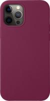 Чехол-накладка Deppa Liquid Silicone Pad для iPhone 12/12 Pro / 87781 (бургунди) -