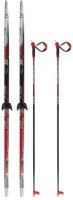 Комплект беговых лыж STC NN75 Step 190/150 (черный) -